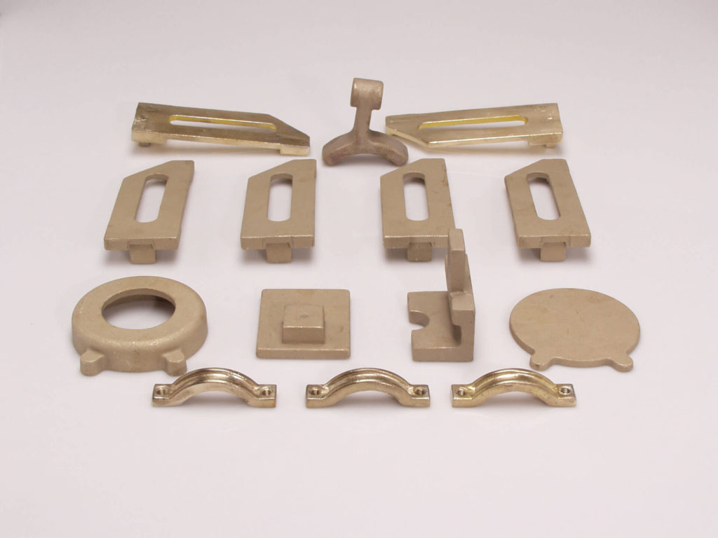 Odlewy formowane ze stopów aluminium, mosiądzu i brązu